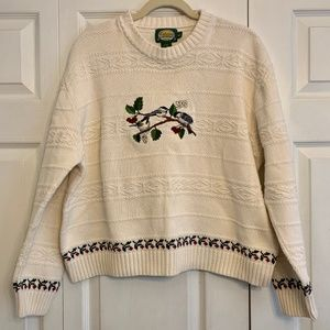 CABELA'S cotton pullover Christmas sweater L
